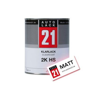2k hs klarlack matt 1 ltr voc autolack21 shop autolack. Black Bedroom Furniture Sets. Home Design Ideas